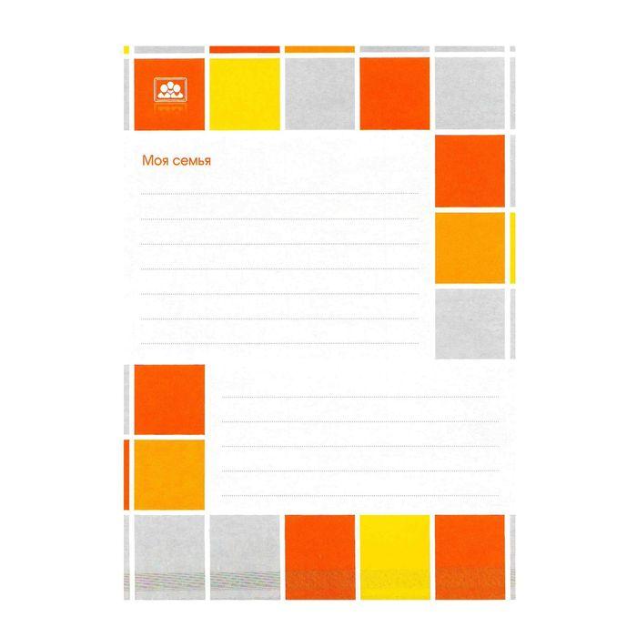 Набор вкладышей для портфолио «Яркая графика», для учеников 1-11 классов, А4, 16 листов, картон, в пакете с европодвесом - фото 408707744