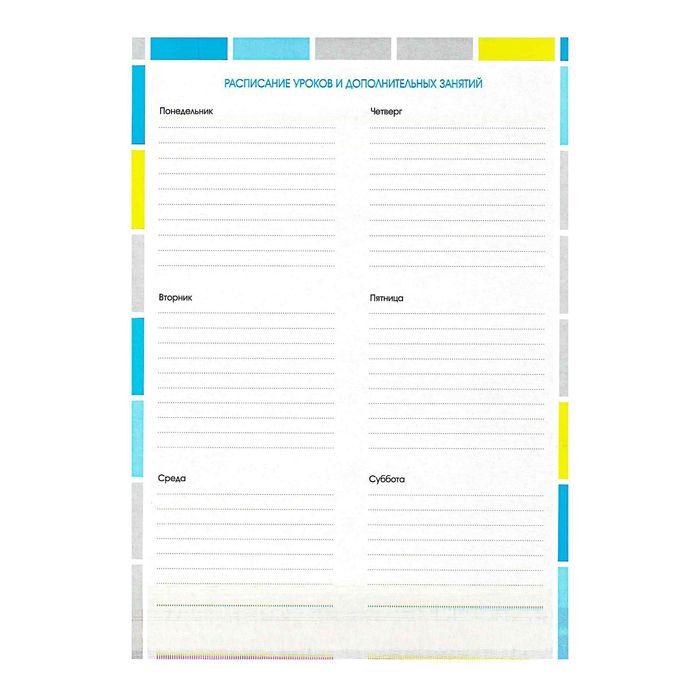 Набор вкладышей для портфолио «Яркая графика», для учеников 1-11 классов, А4, 16 листов, картон, в пакете с европодвесом - фото 408707749