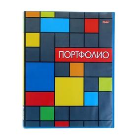 Папка-портфолио пластиковая, А4, 20 вкладышей «Яркая графика», корешок 14 мм
