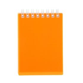 Блокнот в пластиковой обложке А7, 80 листов на гребне DIAMOND NEON, оранжевый Ош