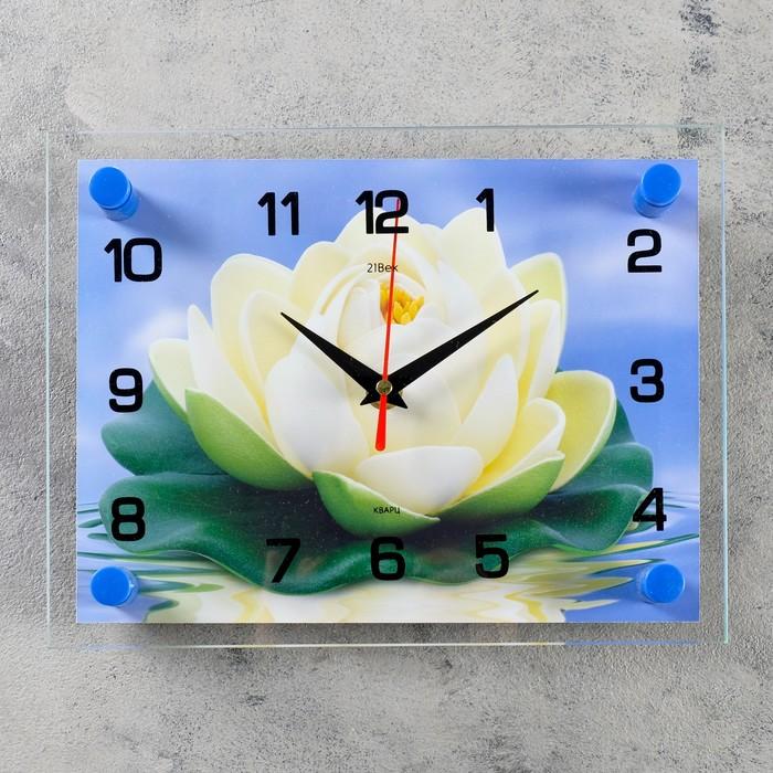 """Часы настенные, серия: Цветы, """"Кувшинка"""", 20х26  см, микс"""