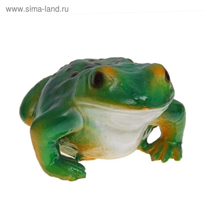 """Садовая фигура """"Жаба с зелёной спинкой"""" большая"""
