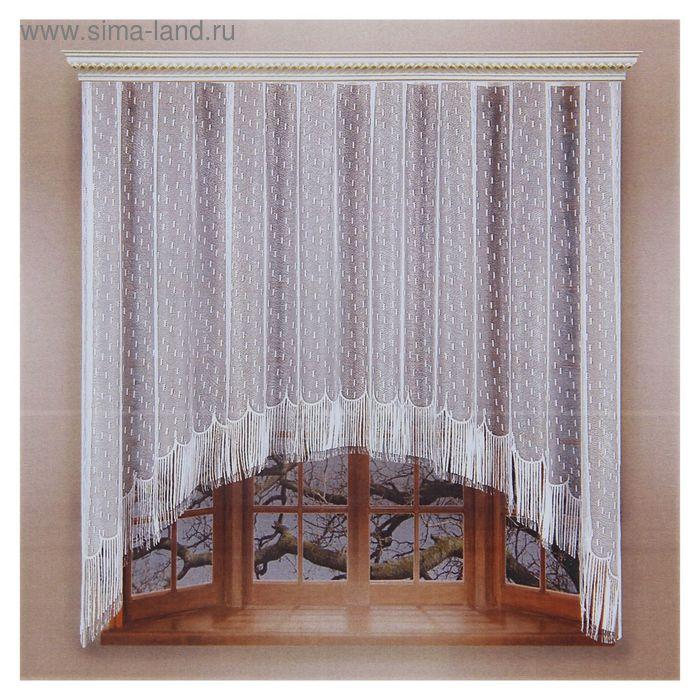 Штора со шторной лентой, ширина 255 см, высота 155 см, цвет белый