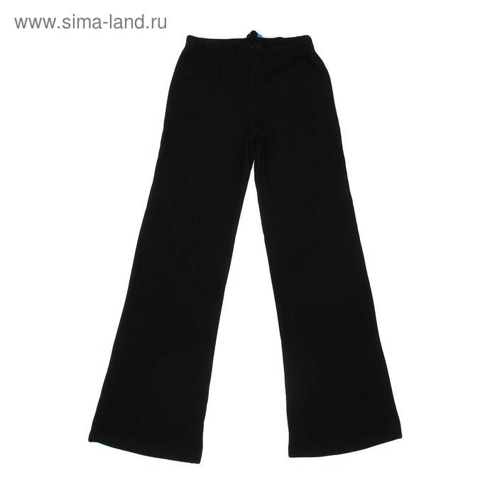 Брюки гимнастические детские, рост 122 см (7 лет), цвет черный
