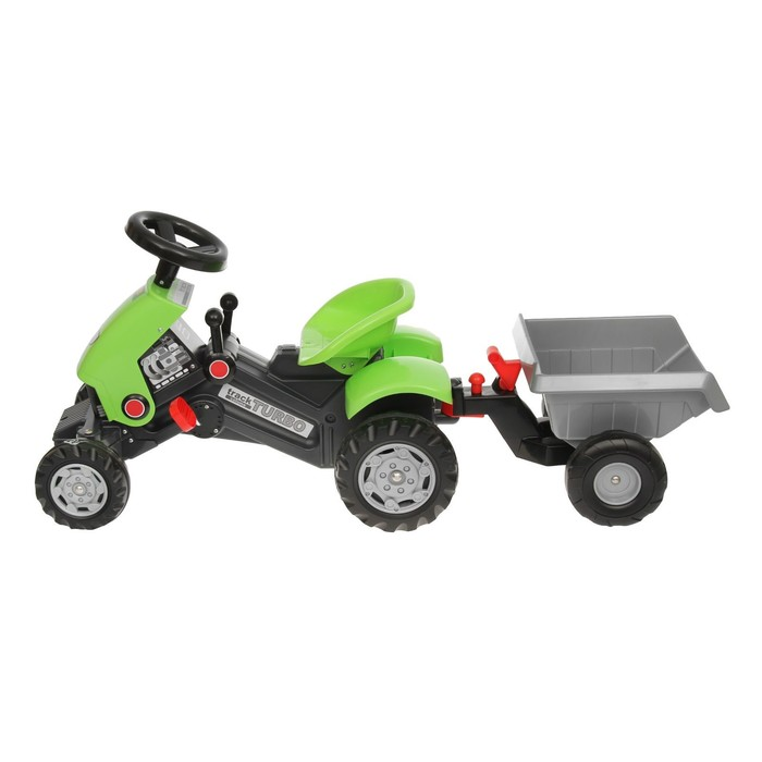 """Толокар-трактор с педалями """"Turbo-2"""", с полуприцепом"""