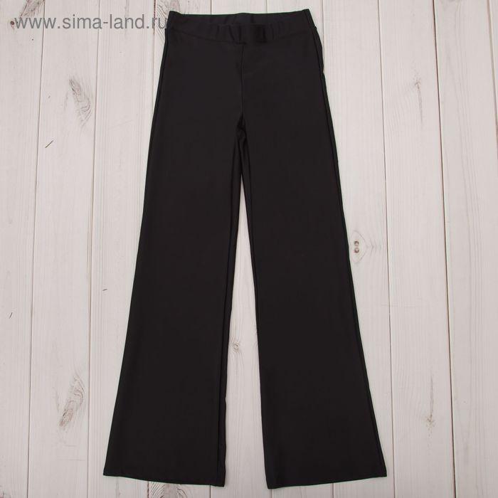 Брюки гимнастические расклешенные, рост 152 см (12 лет), цвет черный