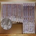 Комплект штор для окон с балконной дверью (занавеска для окна 340х165 см; занавеска для балконной двери 170х250 см), цвет белый