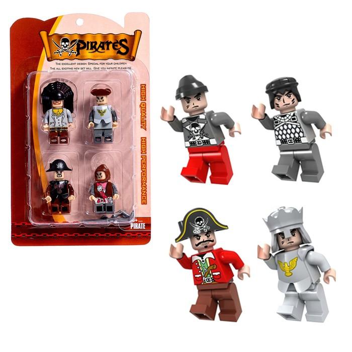 Фигурки для конструктора Ausini, серия «Пираты», в наборе 4 шт. - фото 106524546