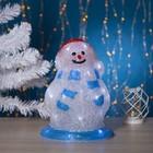 """Фигура акрил. """"Снеговик весельчак"""" 30х17 см, 30 LED, 220V БЕЛЫЙ"""