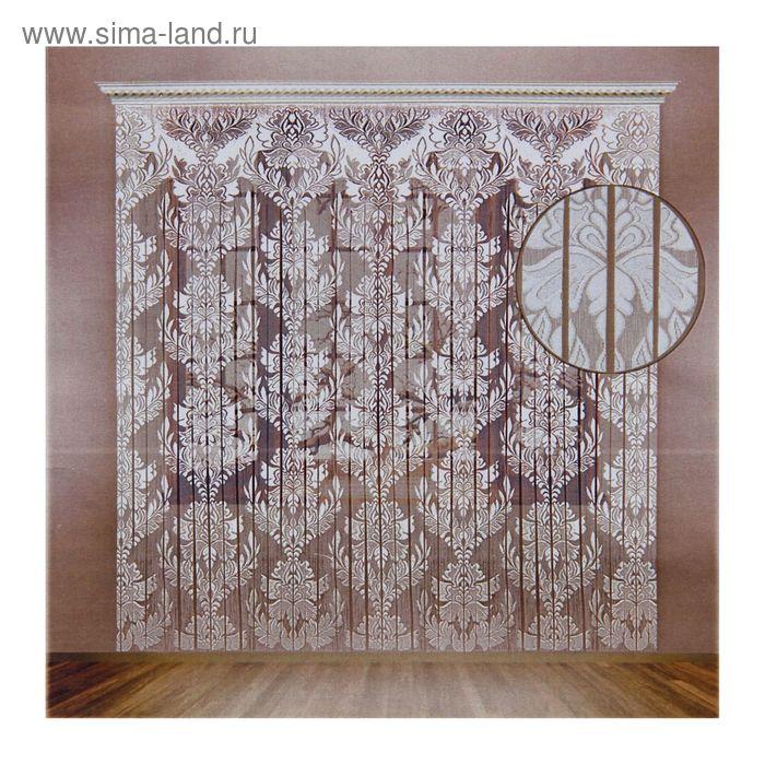 Штора со шторной лентой, ширина 230 см, высота 255 см, цвет белый