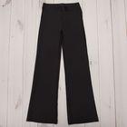 Брюки гимнастические расклешенные, рост 158 см (13 лет), цвет черный
