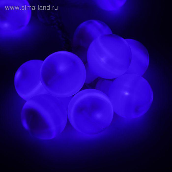 """Гирлянда """"Метраж"""" с насадкой """"Большие шарики 5 см"""" 6 м, LED-20-220V, фиксинг, СИНИЙ"""