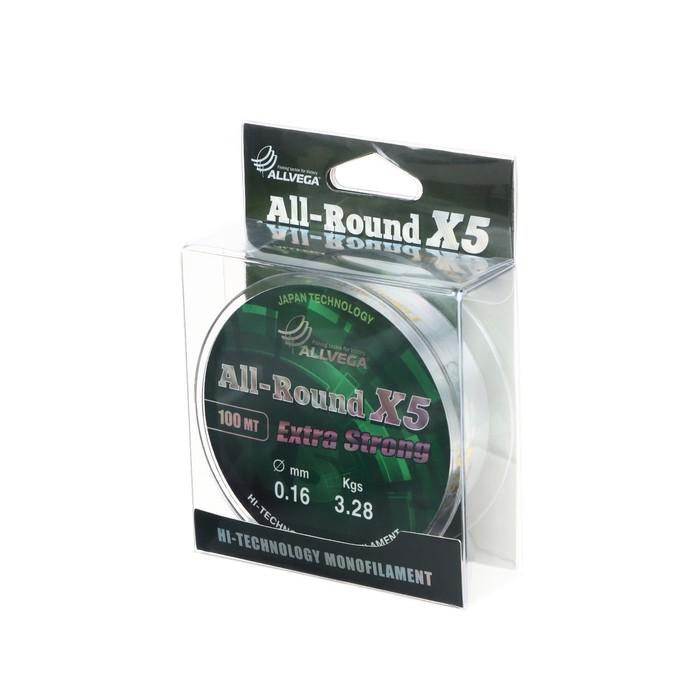 """Леска """"ALLVEGA"""" All-round X5 0.16 100м"""