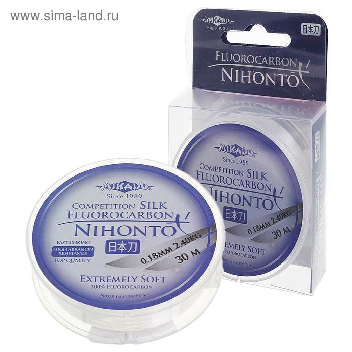 "Леска ""MIKADO"" Nihonto Fluorocarbon Silk 0.18 30м"