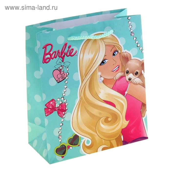 """Пакет подарочный """"Барби"""" 18х21 см, Mattel Barbie"""