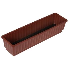 Ящик для цветов, цвет коричневый