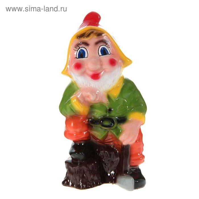 """Садовая фигура """"Гном-дровосек"""" красный колпак, микс"""