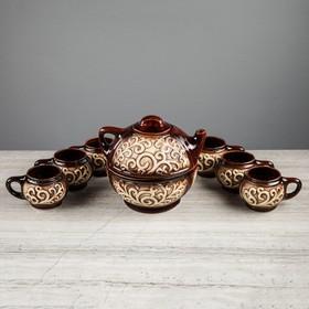 """Набор чайный """"Восток"""", 8 предметов, чайник 0.7л, чашки 0.2л"""