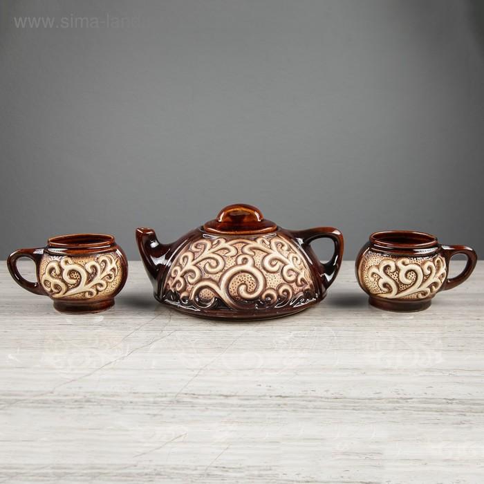 """Набор чайный """"Восток"""" 3 предмета 0,7 л/ 0,15 л"""