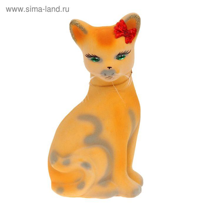 """Копилка """"Кошка Лиза"""" большая, жёлтая"""