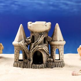 """Декорация для аквариума """"Замок в окружении башен"""", 9 см × 20 см × 15 см, микс"""