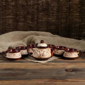 Набор чайный 7 предметов: чайник 1 л, кружки 0,2 л