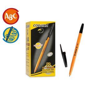 """Ручка шариковая Corvina """"51 Vintage"""" черные чернила, узел 1,0 мм, желтый корпус"""