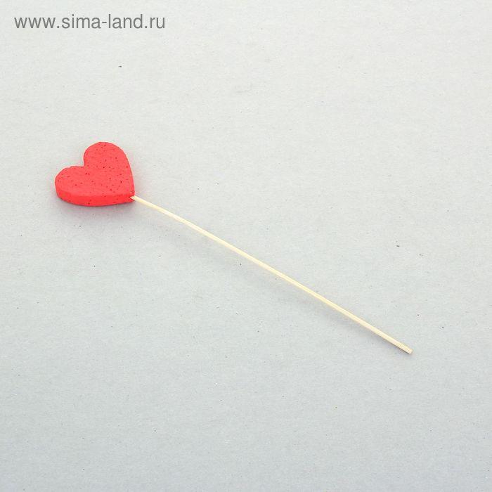 """Изделие из пенопласта """"Мини-сердечко"""" красное, стикер, 5 х 1 см,"""