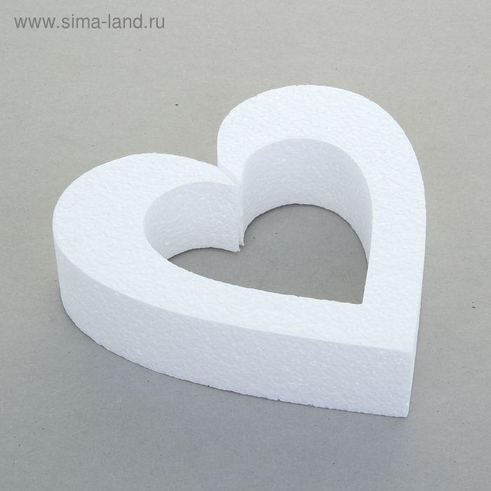 "Заготовка из пенопласта ""Сердце контурное"", 20 х 5 см"