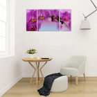 "Картина модульная на стекле ""Орхидеи""  2-25*50, 1-50*50 см   100*50см - фото 881833"