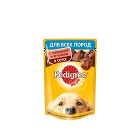 Влажный корм Pedigree для собак, говядина/ягненок в соусе, пауч, 85 г
