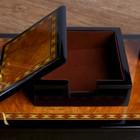 Набор настольный 7в1 (блок д/бумаг,часы с подстав,визитница, лого,нож-лупа-ручка) 20х49х22 см - фото 871221