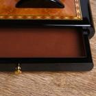 Набор настольный 7в1 (блок д/бумаг,часы с подстав,визитница, лого,нож-лупа-ручка) 20х49х22 см - фото 871224
