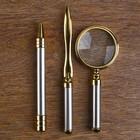 Набор настольный 7в1 (блок д/бумаг,часы с подстав,визитница, лого,нож-лупа-ручка) 20х49х22 см - фото 871225