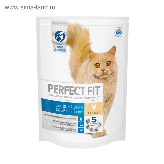 Сухой корм Perfect Fit для домашних кошек, курица, 650 г