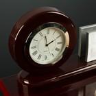 Набор настольный 4в1 (часы в круге, визитница, ручка, блок с бумагой) 30*20см, микс - фото 871229