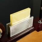 Набор настольный 4в1 (часы в круге, визитница, ручка, блок с бумагой) 30*20см, микс - фото 871230
