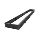 Грядка пластмассовая, 445 × 70 × 21 см, чёрная, «Финская грядка»
