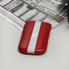 Чехол Time для телефона, с ремешком, размер 2, цвет красный/белый