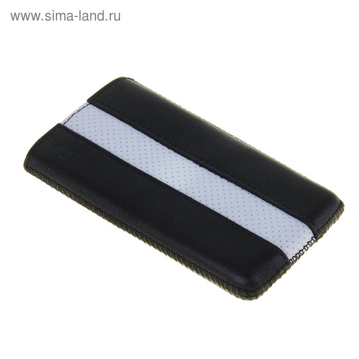 """Чехол с ремешком комбин """"Time"""" 10 61*116*12, для Samsung черный с белым"""