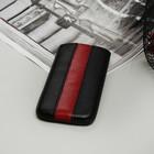 Чехол Time для телефона, с ремешком, размер 13, цвет чёрный/красный
