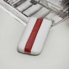 Чехол Time для телефона, с ремешком, размер 4, цвет белый/красный
