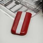Чехол Time для телефона, с ремешком, размер 4, цвет красный/белый
