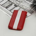 Чехол Time для телефона, с ремешком, размер 13, цвет красный/белый