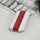 Чехол Time для телефона Samsung, с ремешком, цвет белый/красный