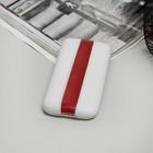 Чехол Time для телефона, с ремешком, размер 5, цвет белый/красный