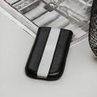 Чехол Time для телефона, с ремешком, размер 11, цвет чёрный/белый