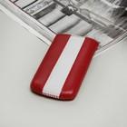 Чехол Time для телефона, с ремешком, размер 12, цвет красный/белый