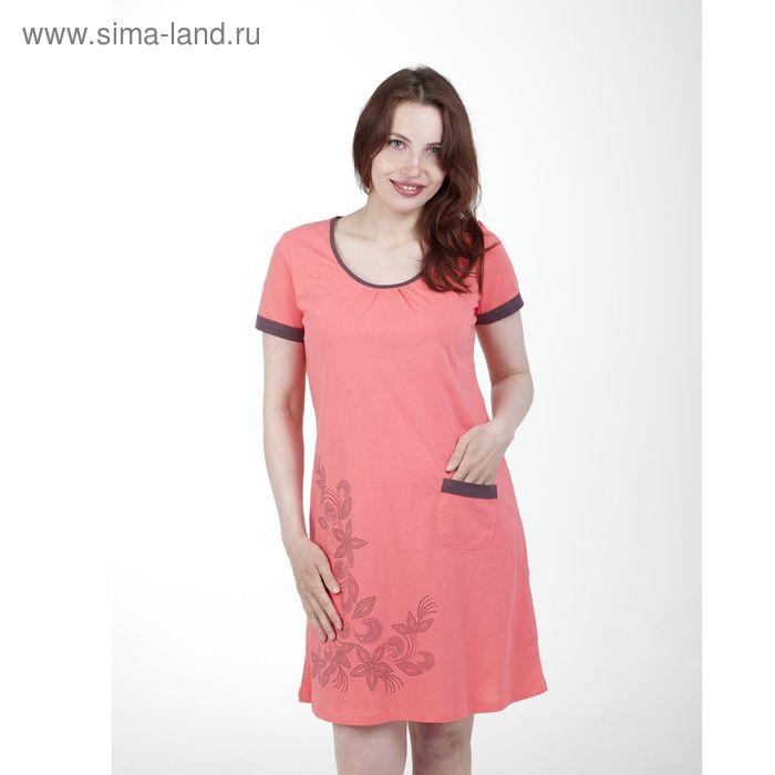 Платье женское, рост 158-164 см, размер 46, цвет персиковый (арт. PK2386/01)