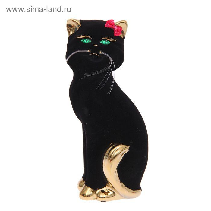 "Копилка ""Кошка Матильда"" малая, булат, чёрная"